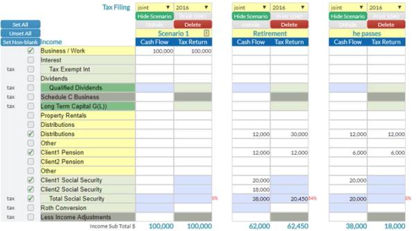 Tax Advisor - screen shot
